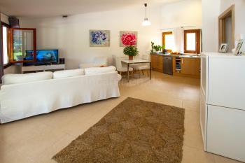 Wohnbereich und Küche mit Klimaanlage