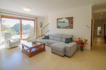 Wohnzimmer mit Fußbodenheizung