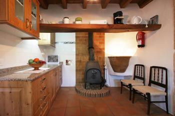 Küche mit Ofen