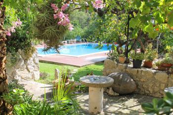 Pool und gepflegte Gartenanlage