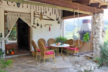 Eingang und Terrasse Speisezimmer