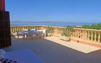 Terrasse - toller Panorama- und Meerblick