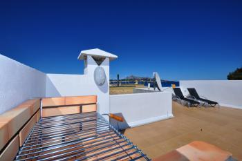 Dachterrasse mit Grill, Meerblick, Essplatz,