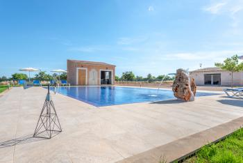 Pool, Außenduschbad und Grillhaus