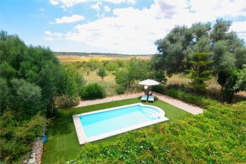Pool und weitläufige Gartenfläche