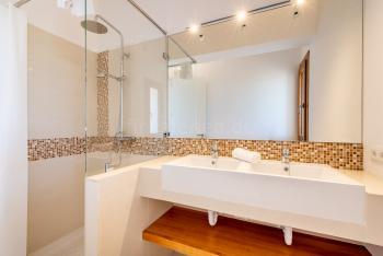 Badezimmer mit Jacuzzi und Dusche - en Suite