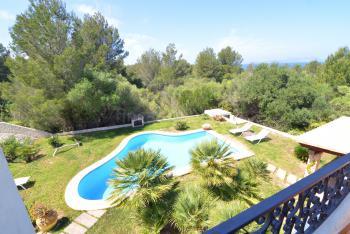 Balkon mit Panorama- und Meerblick