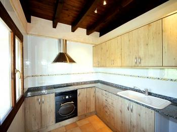 Kleine Küche im Obergeschoss