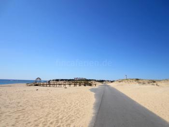 Weiter Sandstrand Costa de la Luz