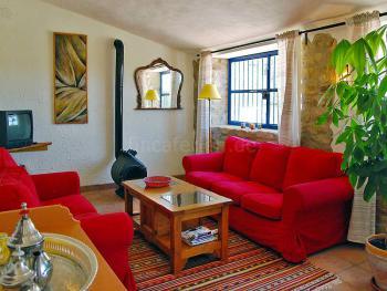 Wohnzimmer - Sitzecke am Schwedenofen
