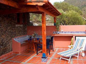 Kleines Ferienhaus auf Teneriffa - die Terrasse