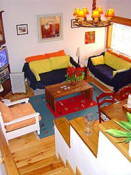 schönes Ferienhaus Teneriffa West bei Los Gigantes - das -Wohnzimmer