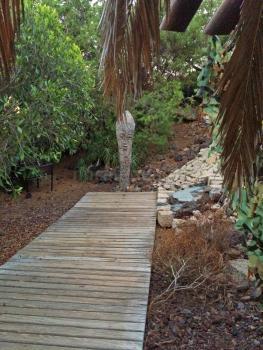 Grillecke im Garten und