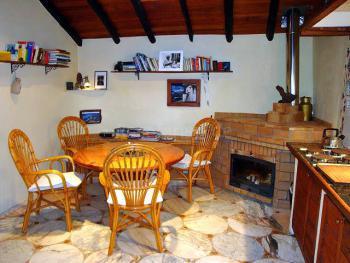 Küche mit Kamin - Casa