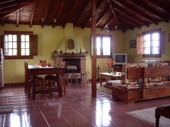 großer Wohnraum mit Kamin