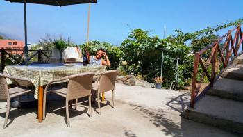 Kleines Ferienhaus mit Meerblick und