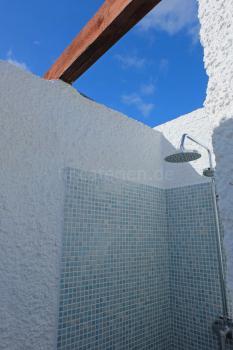 Solarbeheizte Dusche