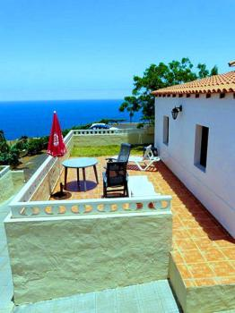 Terrasse mit Meerblick - Haus D