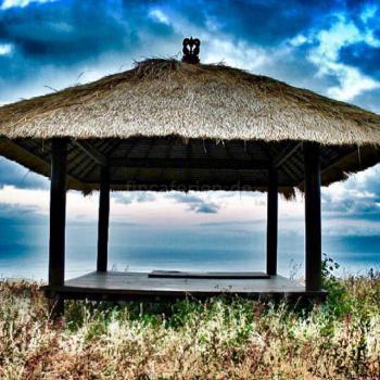 Pavillion mit Meerblick