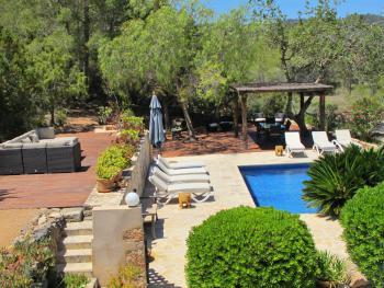 Pool und Terrasse im Garten