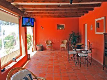 Terrasse mit Sat-TV und Internet W-LAN